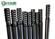 Extension Top Hammer Threaded Drill Rod Untuk Penambangan / Tunnel Drilling Carbon Steel