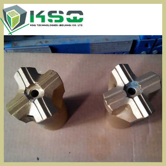 Standard Threaded 51MM Cross Bits For Vertical Borehole Drilling