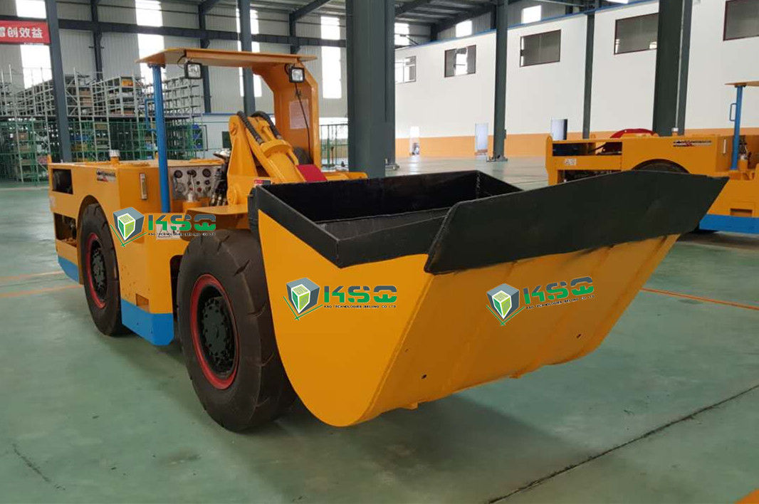 Orange Yellow One Cubic Meter Load Haul Dump Machine Underground Mining
