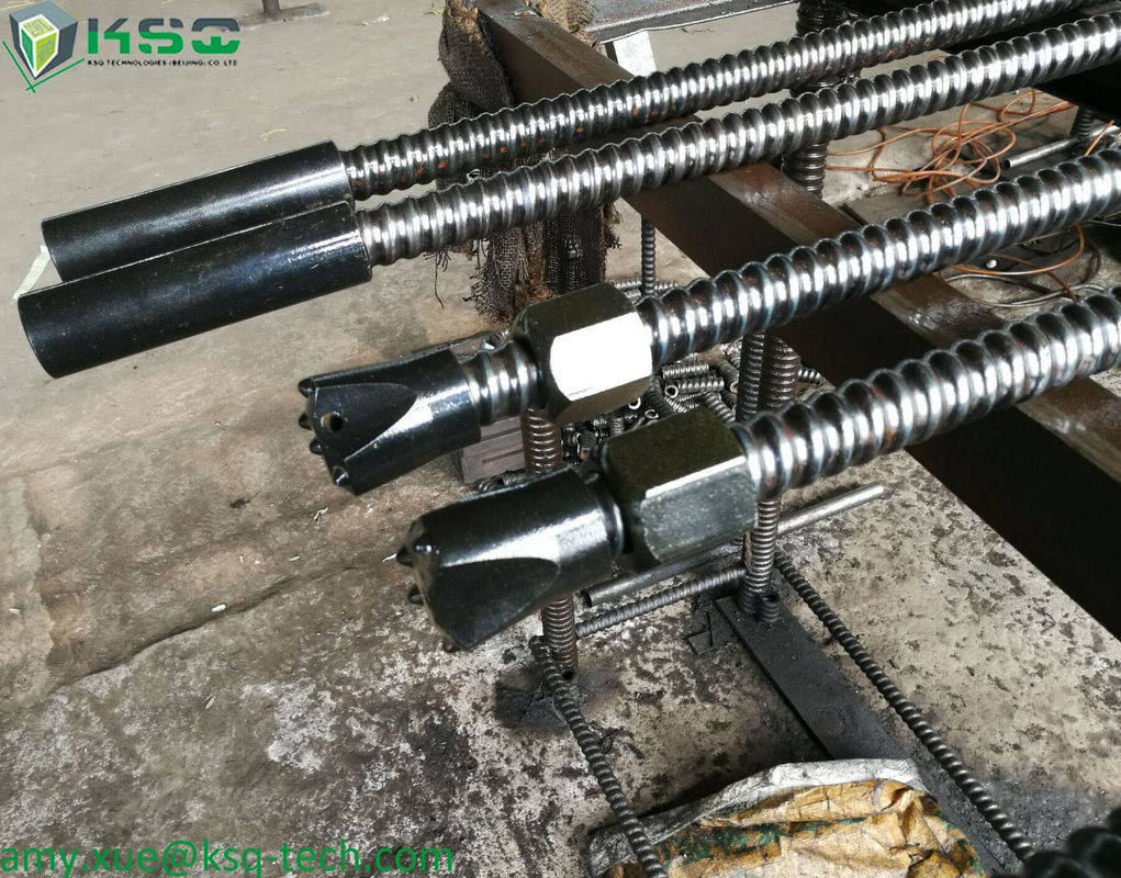 R38 Mining Self Drilling Anchors / Hollow Injection Bar For Narrow Workplace