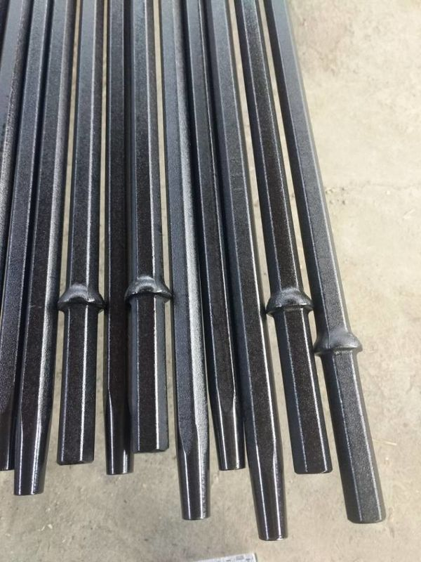7/11/12 Degree Tapered Drill Rod With Hexagonal Steel Length Small Drilling Hole
