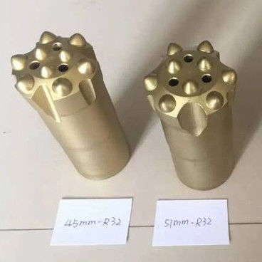 R32 45mm 51mm Thread Button Drill Bit For Mining / Construction Tools