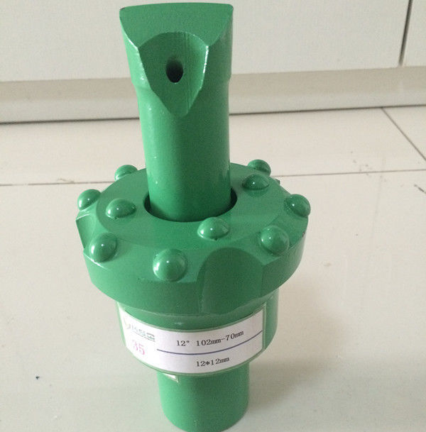 R25 / R28 / R32 6 12 Degree Pilot Adapter Reaming Bit For Cut Holes Quarry Mining