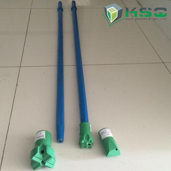 Small Hole Diameter Drill Extension Rod Tapered Drill Rod For Blast
